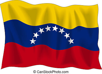Flag of Venezuela - Waving flag of Venezuela isolated on ...