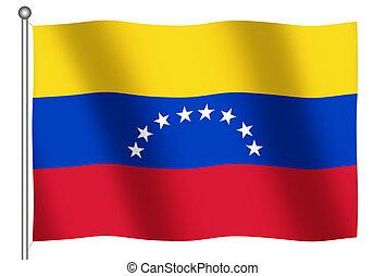 Flag of Venezuela Waving