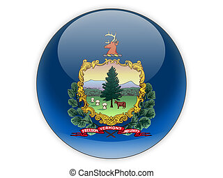 Flag of vermont, US state icon