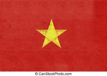 Flag of Vietnam Grunge.