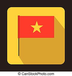 Flag of Vietnam icon, flat style