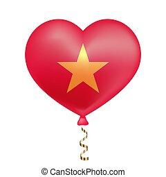Flag of Vietnam in heart shape