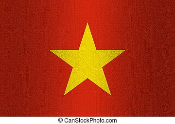 Flag of Vietnam on stone