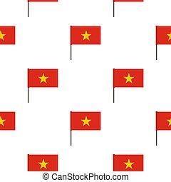 Flag of Vietnam pattern seamless