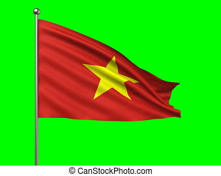 flag of Vietnam loop-able 3d animation