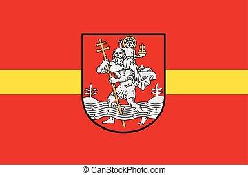 Flag of Vilnius, Lithuania. Vector Format