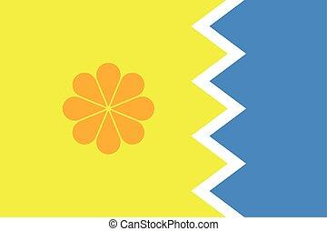 Flag of Vina del Mar, Chile. Vector Format