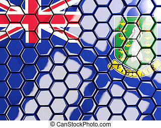 Flag of virgin islands british, hexagon mosaic background. 3D illustration
