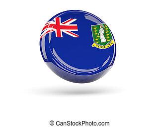 Flag of virgin islands british. Round icon