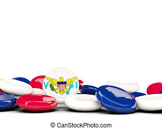Flag of virgin islands us, round buttons