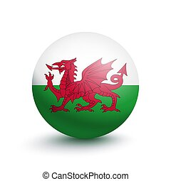 Flag of Wales in the form of a ball