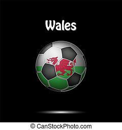 Flag of Wales in the form of a soccer ball