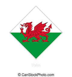 Flag of Wales participant of the Europe football competition.