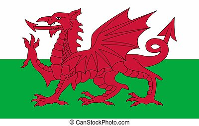 Flag of Wales. Vector illustration. World flag