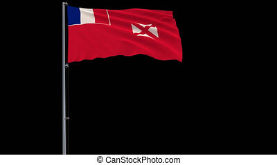 Flag of Wallis and Futuna on transparent background, 4k...