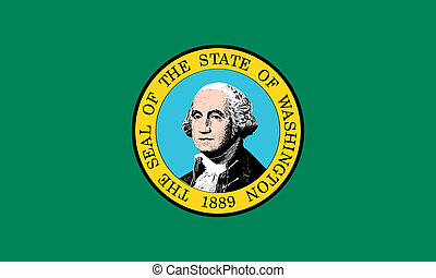 Flag of Washington state correct size illustration