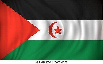 Flag of Western Sahara - vector illustration