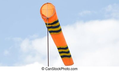 Flag of windsock in airport