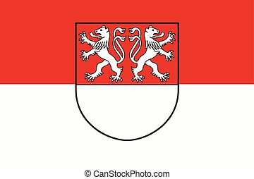 Flag of Witten, Germany. Vector Format.