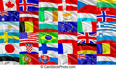 Flag of world countries set