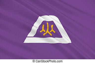 Flag of Yamanashi Prefecture, Japan - Flag of Yamanashi ...