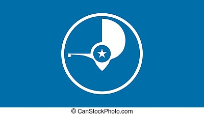 Flag of Yap. Vector illustration. World flag