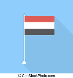 Flag of Yemen. Vector illustration .