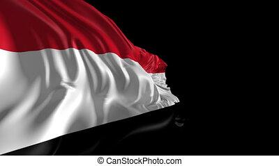 Flag of Yemen - Beautiful 3d animation of Yemen flag with...