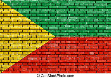 flag of Zabaykalsky Krai painted on brick wall