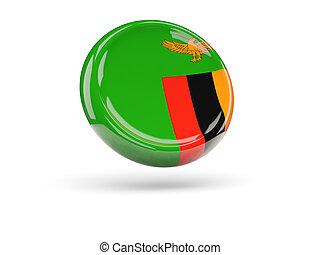 Flag of zambia. Round icon