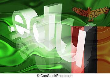 Flag of Zambia wavy education - Flag of Zambia, national...