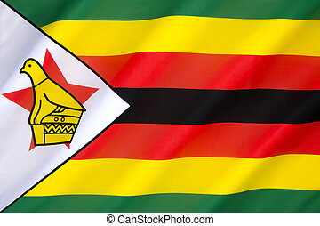 Flag of Zimbabwe - adopted on 18th April 1980, when Zimbabwe...
