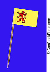 Tooth pick wit a small paper flag of Zuid Holland