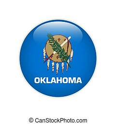 Flag Oklahoma button