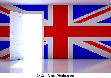 Flag on empty room