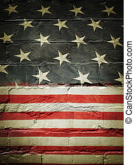 Flag on wall