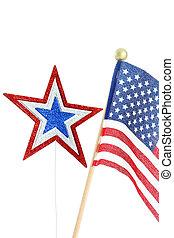 Flag on White Background