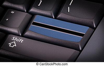 flag, på, klaviatur