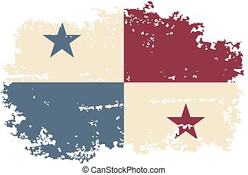 flag., panamá, vector, grunge, illustration.