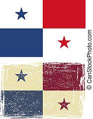 flag., panamá, vector, grunge