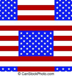 flag., pattern., seamless, usa