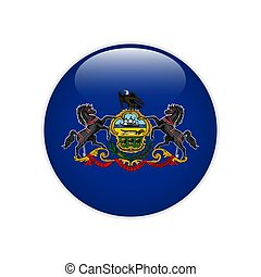 Flag Pennsylvania button