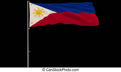 Flag Philippines on transparent background, 4k prores 4444 footage with alpha