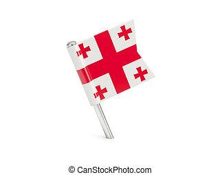Flag pin of georgia