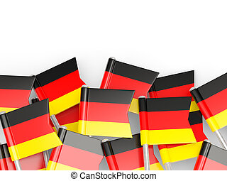 Flag pin of germany