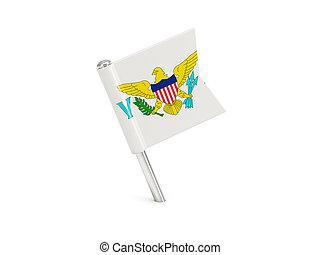 Flag pin of virgin islands us