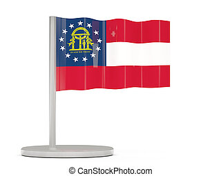 Flag pin with flag of georgia. United states local flags