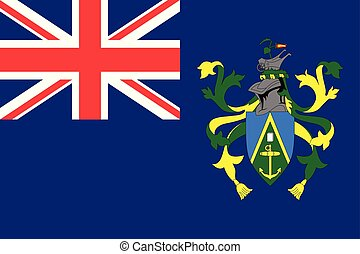 Flag Pitcairn Islands flat style
