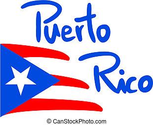 Creative design of flag puerto rico