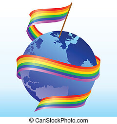 flag rainbow - Flag of rainbow around the globe